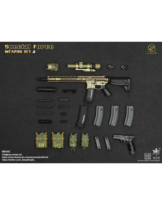NEW PRODUCT: Easy&Simple: 06018 1/6 Scale PMC Weapon Set in 3 Styles & 06019 1/6 Scale Doom's Day Weapon Set in 3 Styles 10178