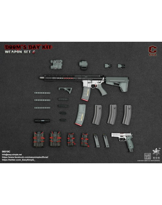 NEW PRODUCT: Easy&Simple: 06018 1/6 Scale PMC Weapon Set in 3 Styles & 06019 1/6 Scale Doom's Day Weapon Set in 3 Styles 10179