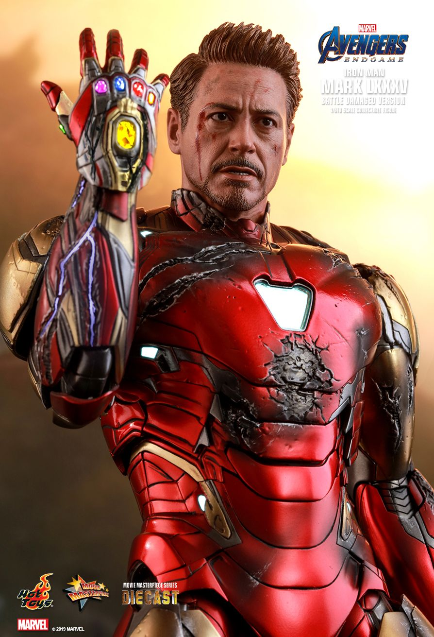 marvel - NEW PRODUCT: HOT TOYS: AVENGERS: ENDGAME IRON MAN MARK LXXXV (BATTLE DAMAGED VERSION) 1/6TH SCALE COLLECTIBLE FIGURE 10183