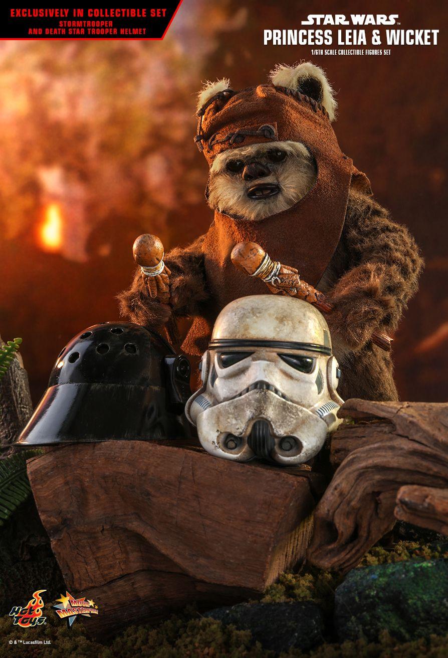 Endor Leia - NEW PRODUCT: HOT TOYS: STAR WARS: RETURN OF THE JEDI PRINCESS LEIA AND WICKET 1/6TH SCALE COLLECTIBLE FIGURES SET 10191