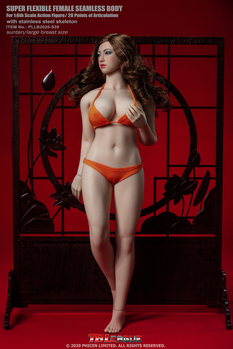 "body - NEW PRODUCT: TBLeague: 1/6 scale ""Chubby"" Female Body (2 styles, with or without a head sculpt) 10249"