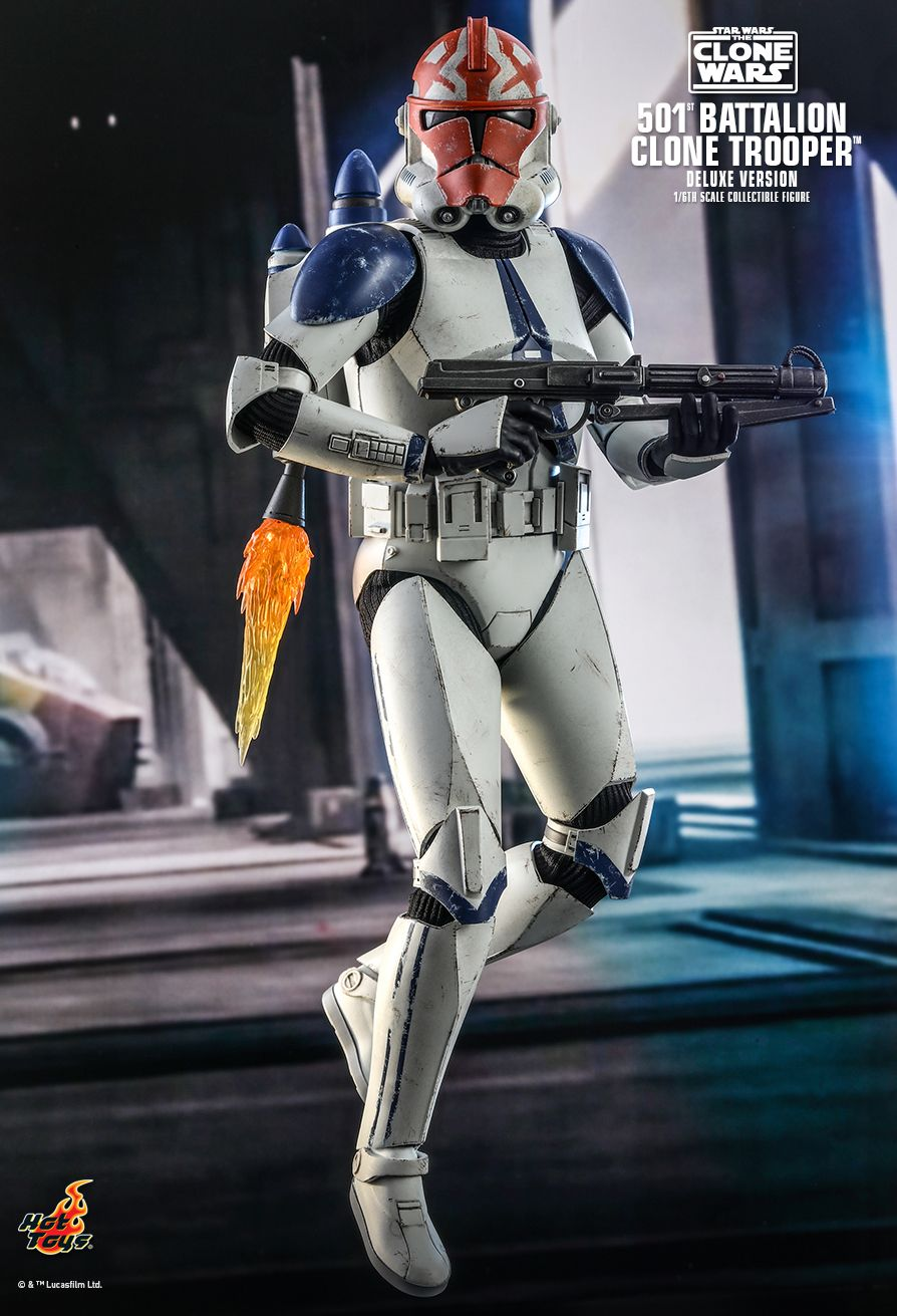 hottoys - NEW PRODUCT: HOT TOYS: STAR WARS: THE CLONE WARS™ 501ST BATTALION CLONE TROOPER™ (DELUXE VERSION) 1/6TH SCALE COLLECTIBLE FIGURE 10296