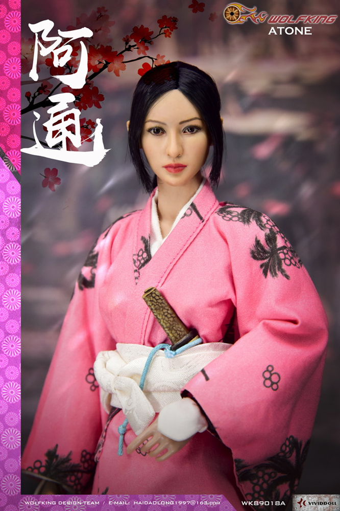 japanese - NEW PRODUCT: WOLFKING: (modified version) 1 / 6 rogue series - Atong ATONE movable doll WK89018A 10421110