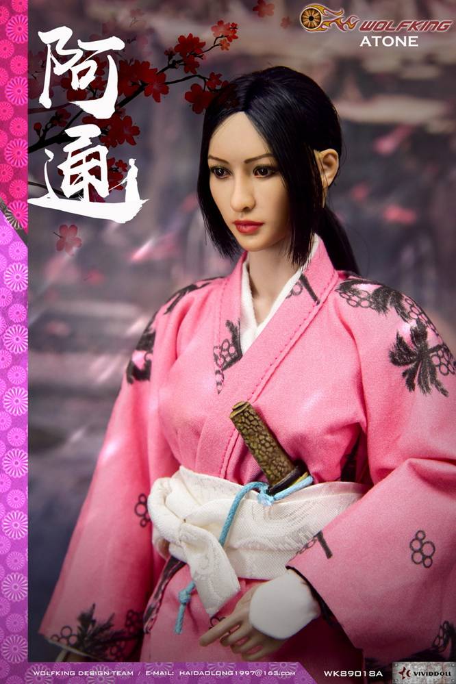 japanese - NEW PRODUCT: WOLFKING: (modified version) 1 / 6 rogue series - Atong ATONE movable doll WK89018A 10421310