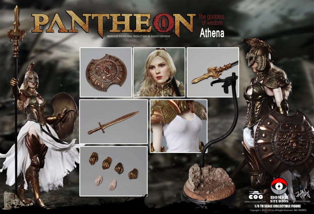 "NEW PRODUCT: COO MODEL X HOMER 1/6th scale PANTHEON Athena Goddess of War 12"" Collectible Figure 1056"