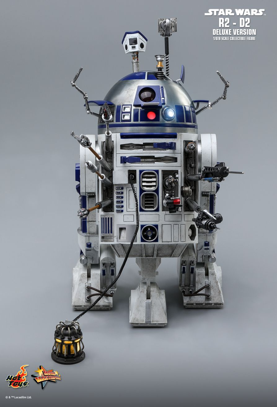NEW PRODUCT: HOT TOYS: STAR WARS R2-D2 DELUXE VERSION 1/6TH SCALE COLLECTIBLE FIGURE 1077