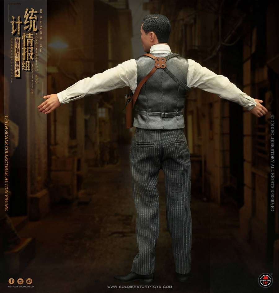 SoldierStory - NEW PRODUCT: SoldierStory new product: 1/6 World War II statistical intelligence group underground agent Fu Jingian - Shanghai 1942 (SS113#) 1078