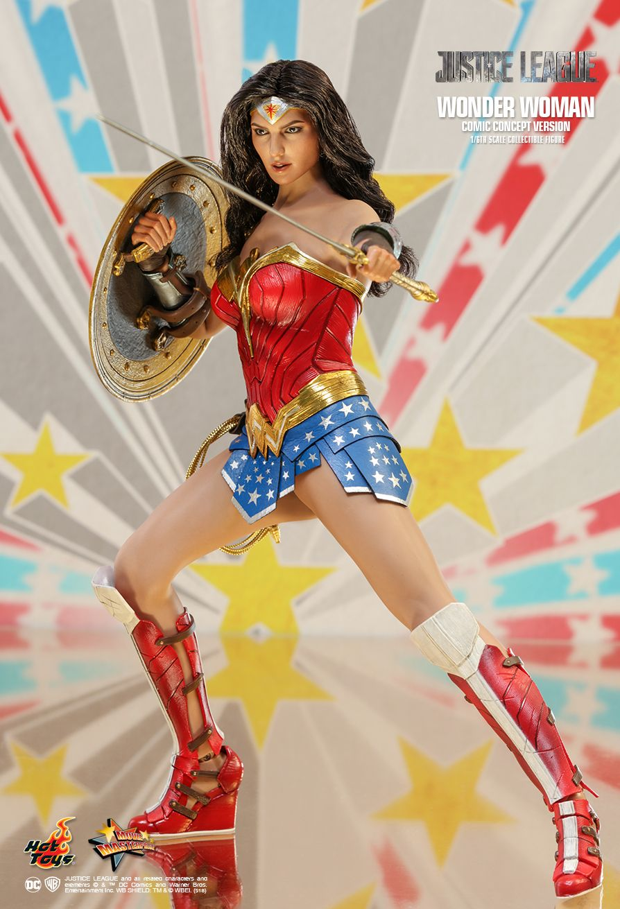 NEW PRODUCT: HOT TOYS: JUSTICE LEAGUE WONDER WOMAN (COMIC CONCEPT VERSION) 1/6TH SCALE COLLECTIBLE FIGURE 1083