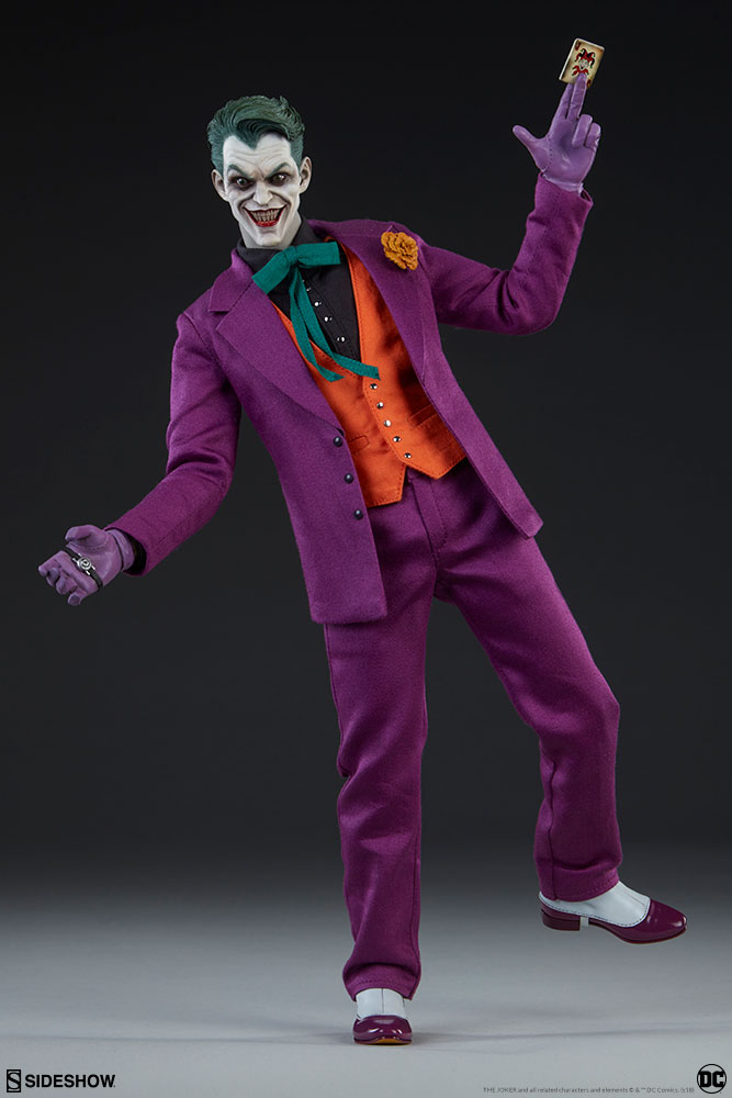 batman - NEW PRODUCT: SIDESHOW COLLECTIBLES: The Joker Sixth Scale Figure (Exclusive Laughing Head Sculpt) 1092