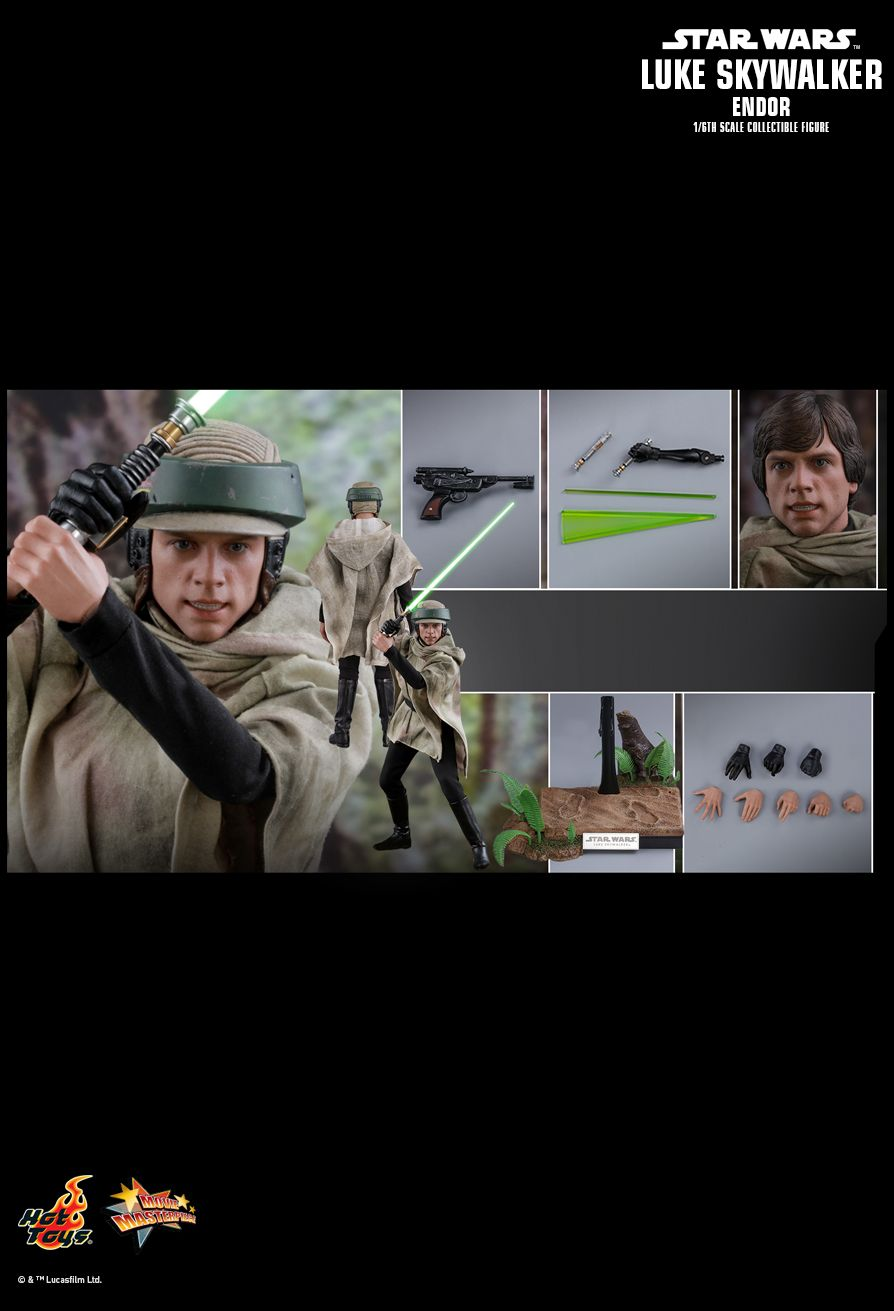 returnofthejedi - NEW PRODUCT: HOT TOYS: STAR WARS: RETURN OF THE JEDI LUKE SKYWALKER (ENDOR) 1/6TH SCALE COLLECTIBLE FIGURE 1095
