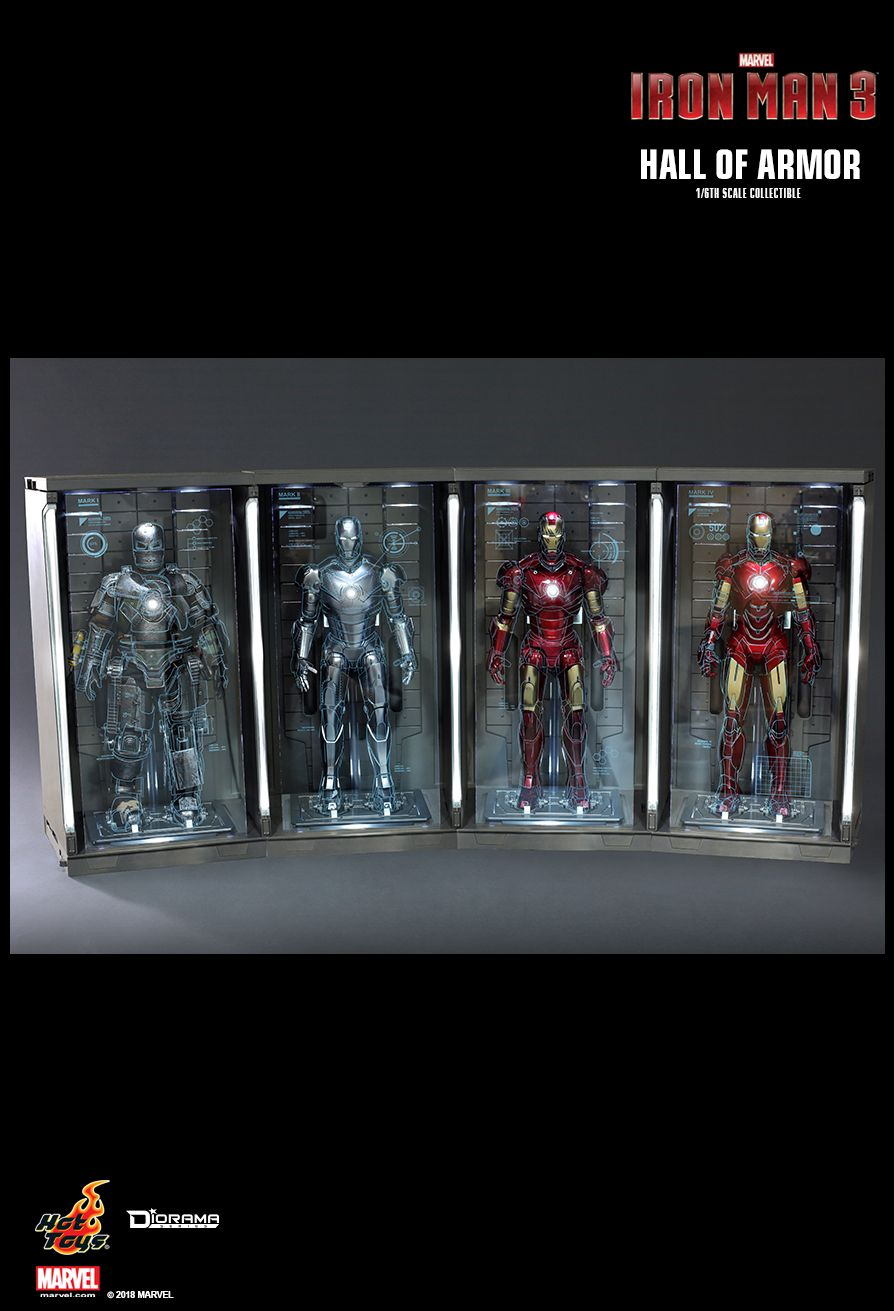 diorama - NEW PRODUCT: HOT TOYS: IRON MAN 2 HALL OF ARMOR 1/6TH SCALE COLLECTIBLE 1097