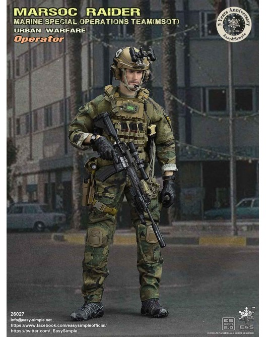 NEW PRODUCT: Easy & Simple 26027 1/6 Scale MARSOC Raider Urban Warfare Operator 11-52810