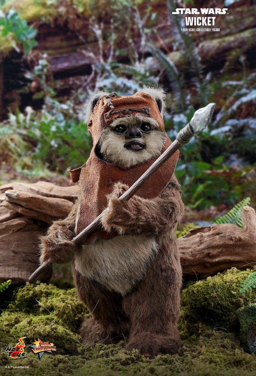 NEW PRODUCT: HOT TOYS: STAR WARS: RETURN OF THE JEDI WICKET 1/6TH SCALE COLLECTIBLE FIGURE 11001