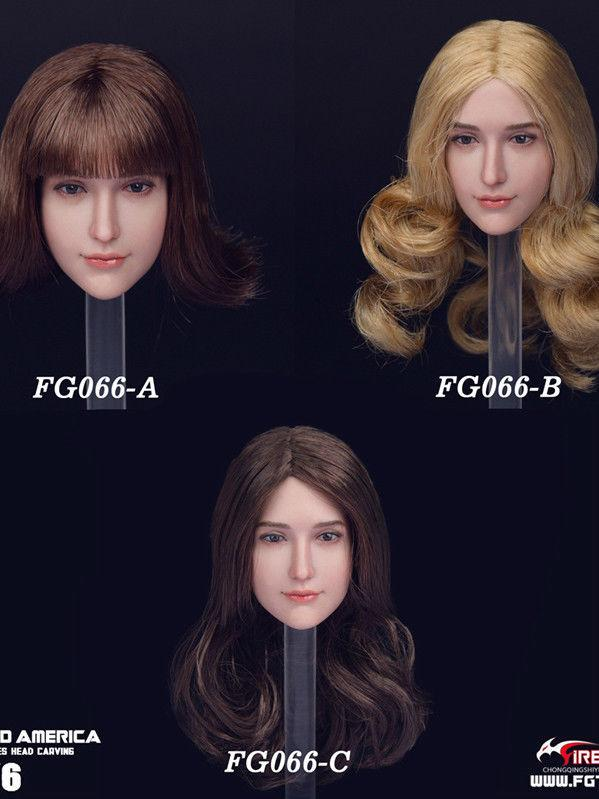 NEW PRODUCT: 1/6 Scale Fire Girl Toys FG066 Sweetheart Female Head Sculpt H#pale (3 versions) 1101