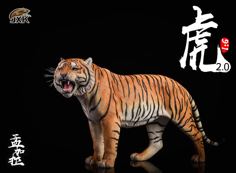NEW PRODUCT: JXK: 1/6 Bengal Tiger Tiger - 2.0 Roaring & White Tiger Animal Model 11010110