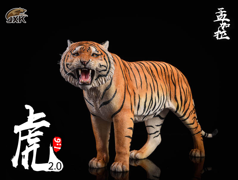 NEW PRODUCT: JXK: 1/6 Bengal Tiger Tiger - 2.0 Roaring & White Tiger Animal Model 11010210