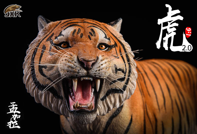 NEW PRODUCT: JXK: 1/6 Bengal Tiger Tiger - 2.0 Roaring & White Tiger Animal Model 11010610