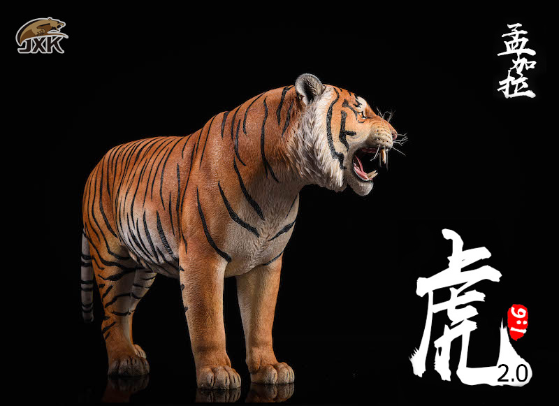 NEW PRODUCT: JXK: 1/6 Bengal Tiger Tiger - 2.0 Roaring & White Tiger Animal Model 11011610