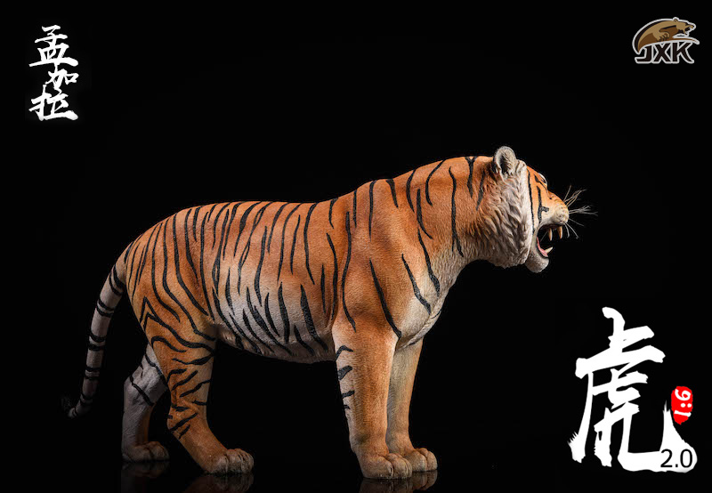NEW PRODUCT: JXK: 1/6 Bengal Tiger Tiger - 2.0 Roaring & White Tiger Animal Model 11011810
