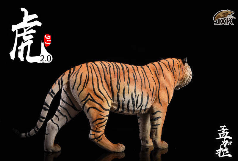 NEW PRODUCT: JXK: 1/6 Bengal Tiger Tiger - 2.0 Roaring & White Tiger Animal Model 11011910