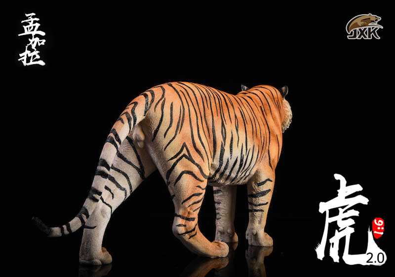 NEW PRODUCT: JXK: 1/6 Bengal Tiger Tiger - 2.0 Roaring & White Tiger Animal Model 11012010
