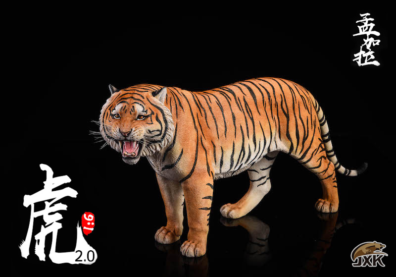 NEW PRODUCT: JXK: 1/6 Bengal Tiger Tiger - 2.0 Roaring & White Tiger Animal Model 11012310