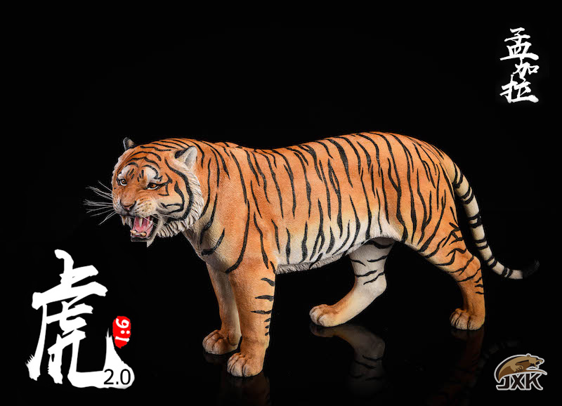 NEW PRODUCT: JXK: 1/6 Bengal Tiger Tiger - 2.0 Roaring & White Tiger Animal Model 11012410
