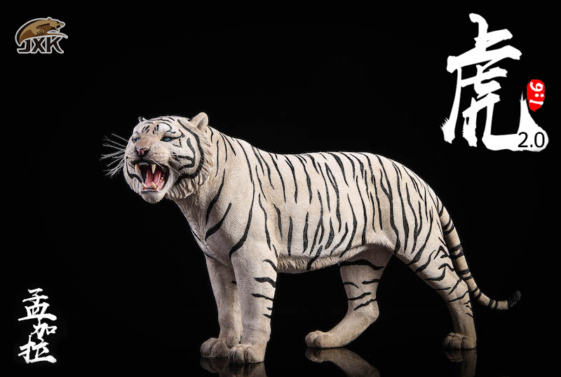 NEW PRODUCT: JXK: 1/6 Bengal Tiger Tiger - 2.0 Roaring & White Tiger Animal Model 11012710