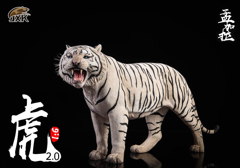 NEW PRODUCT: JXK: 1/6 Bengal Tiger Tiger - 2.0 Roaring & White Tiger Animal Model 11012810