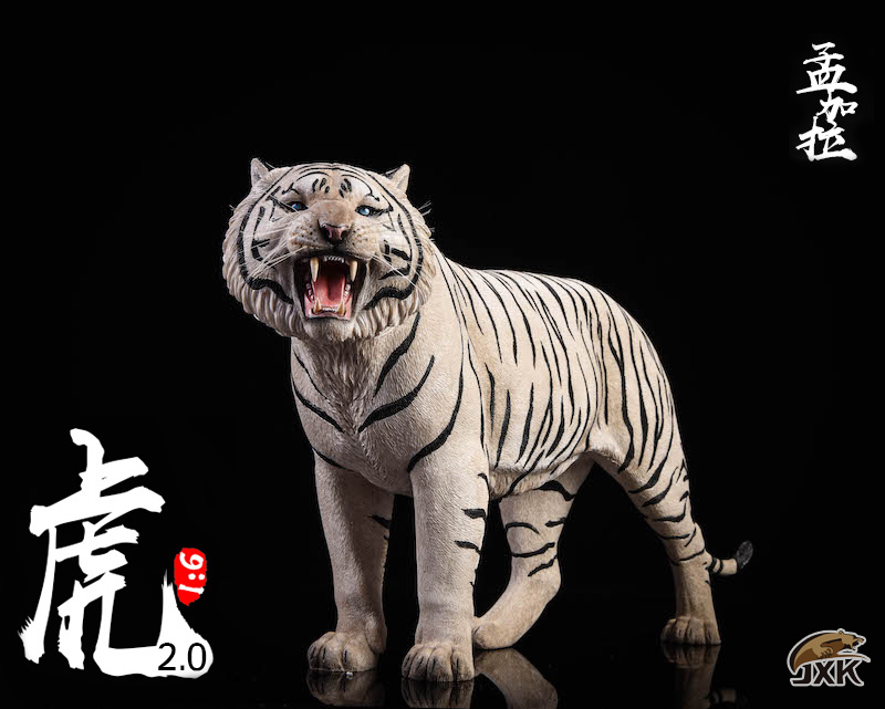 NEW PRODUCT: JXK: 1/6 Bengal Tiger Tiger - 2.0 Roaring & White Tiger Animal Model 11012910