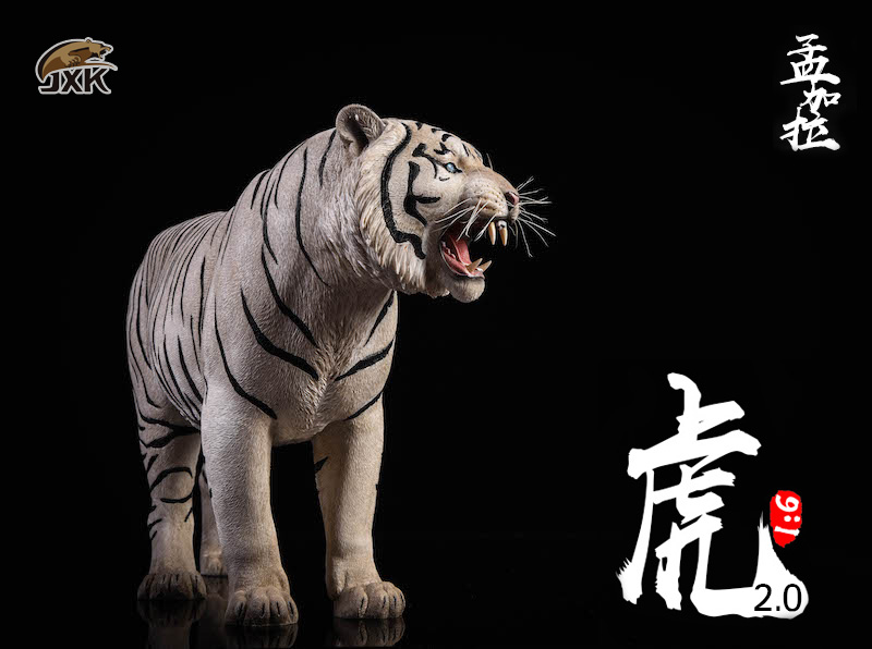 NEW PRODUCT: JXK: 1/6 Bengal Tiger Tiger - 2.0 Roaring & White Tiger Animal Model 11013010