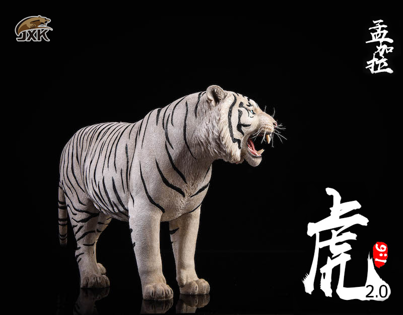 NEW PRODUCT: JXK: 1/6 Bengal Tiger Tiger - 2.0 Roaring & White Tiger Animal Model 11013110