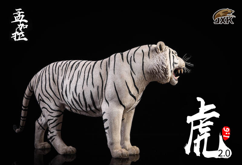 NEW PRODUCT: JXK: 1/6 Bengal Tiger Tiger - 2.0 Roaring & White Tiger Animal Model 11013210