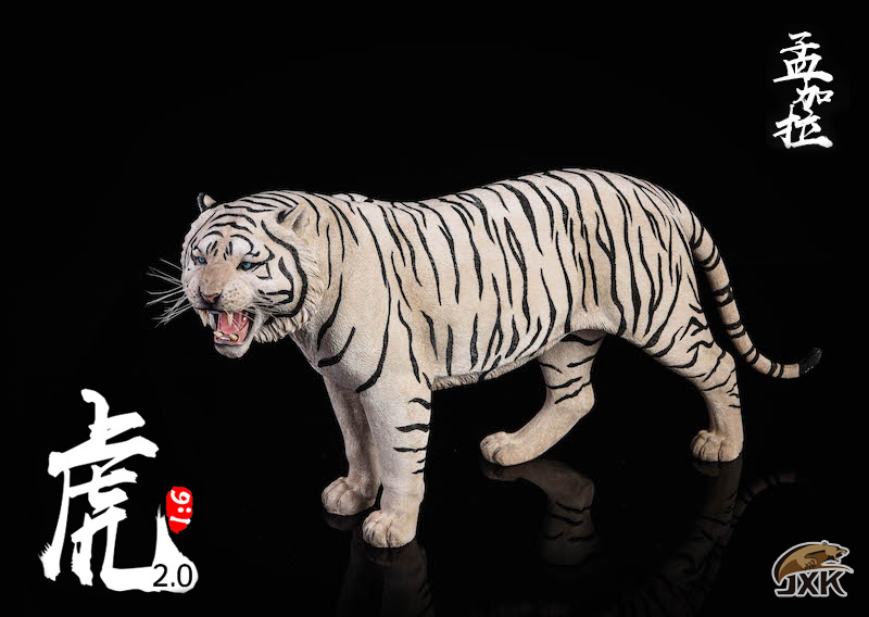 NEW PRODUCT: JXK: 1/6 Bengal Tiger Tiger - 2.0 Roaring & White Tiger Animal Model 11013510