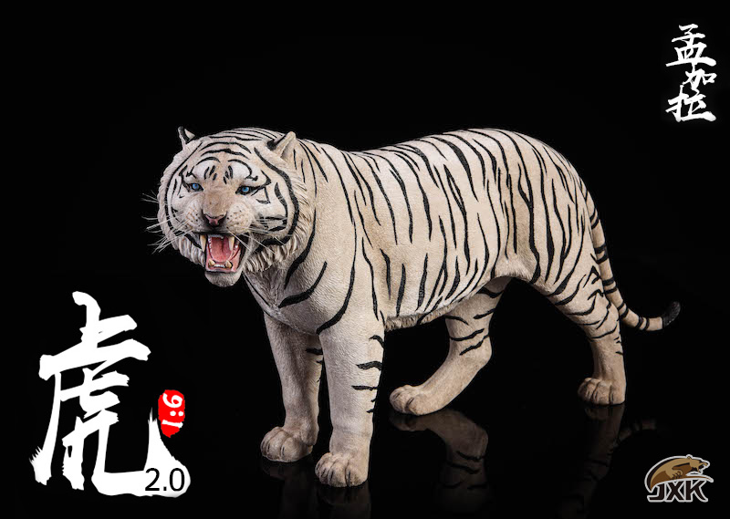 NEW PRODUCT: JXK: 1/6 Bengal Tiger Tiger - 2.0 Roaring & White Tiger Animal Model 11013610