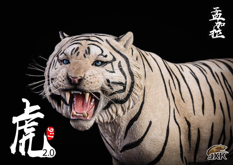 NEW PRODUCT: JXK: 1/6 Bengal Tiger Tiger - 2.0 Roaring & White Tiger Animal Model 11013710