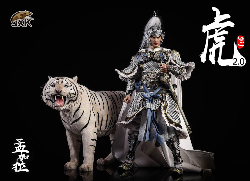 NEW PRODUCT: JXK: 1/6 Bengal Tiger Tiger - 2.0 Roaring & White Tiger Animal Model 11014010