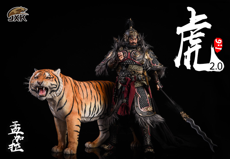 NEW PRODUCT: JXK: 1/6 Bengal Tiger Tiger - 2.0 Roaring & White Tiger Animal Model 11014110