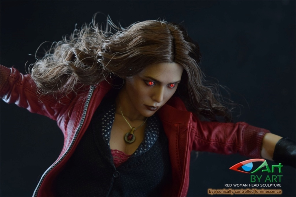 headsculpt - NEW PRODUCT: BY-ART: 1/6 Red female head sculpture Red Eye Head sculpture 11045611