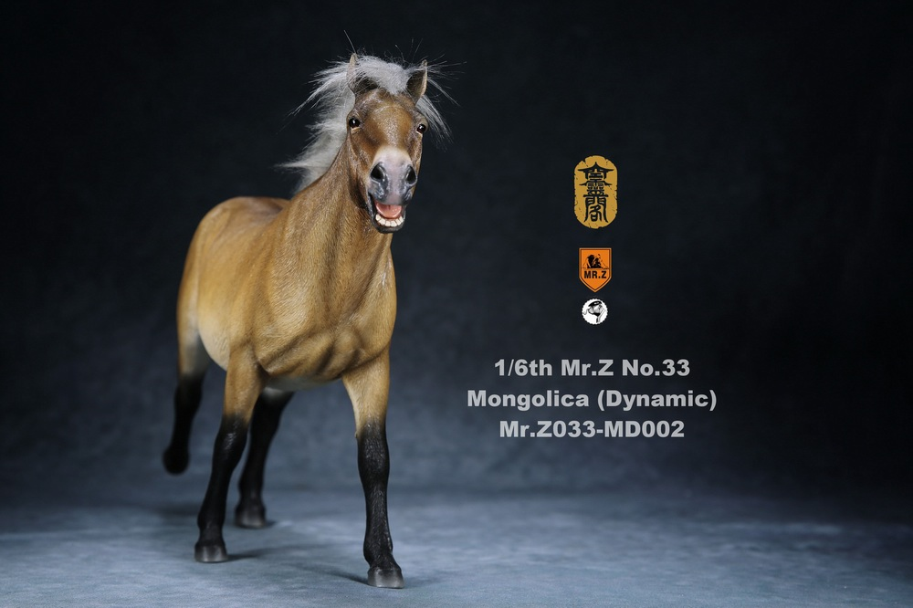 Horse - NEW PRODUCT: Mr.Z (*Air Lingge cooperation model) simulation animal 33rd bomb-1/6 Mongolian horse (dynamic) full set of 5 colors 11050610