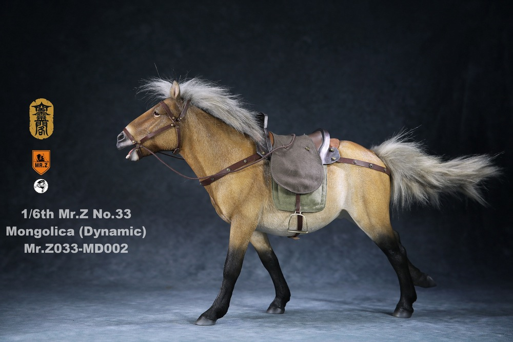 Horse - NEW PRODUCT: Mr.Z (*Air Lingge cooperation model) simulation animal 33rd bomb-1/6 Mongolian horse (dynamic) full set of 5 colors 11050911