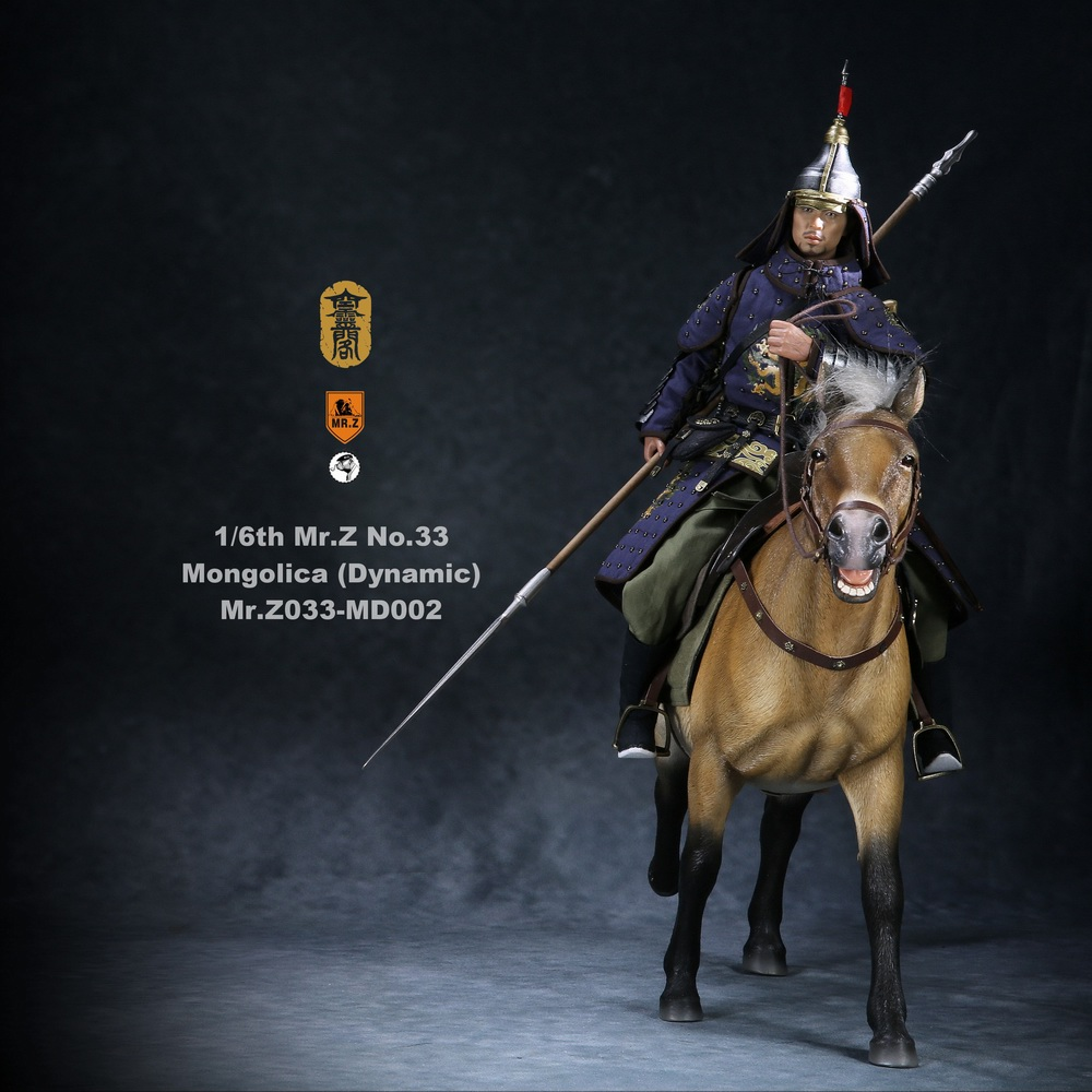 Horse - NEW PRODUCT: Mr.Z (*Air Lingge cooperation model) simulation animal 33rd bomb-1/6 Mongolian horse (dynamic) full set of 5 colors 11051311