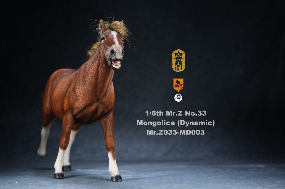 Horse - NEW PRODUCT: Mr.Z (*Air Lingge cooperation model) simulation animal 33rd bomb-1/6 Mongolian horse (dynamic) full set of 5 colors 11055410