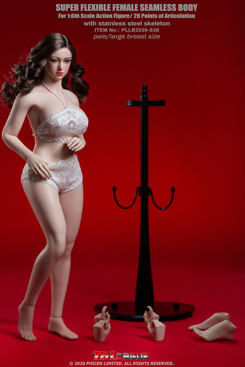 "body - NEW PRODUCT: TBLeague: 1/6 scale ""Chubby"" Female Body (2 styles, with or without a head sculpt) 11078"