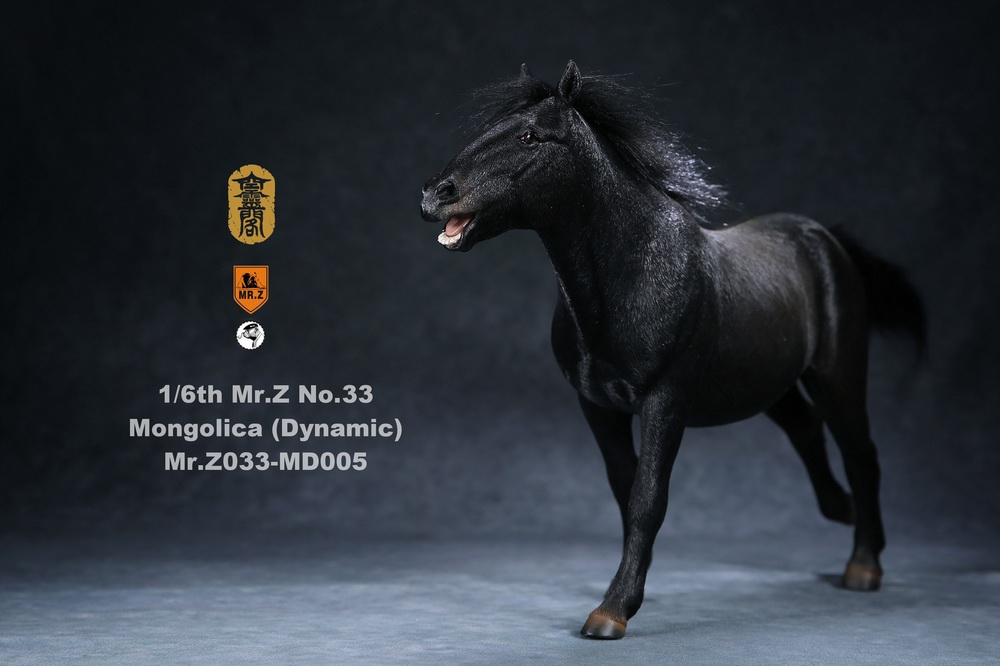 Horse - NEW PRODUCT: Mr.Z (*Air Lingge cooperation model) simulation animal 33rd bomb-1/6 Mongolian horse (dynamic) full set of 5 colors 11082310
