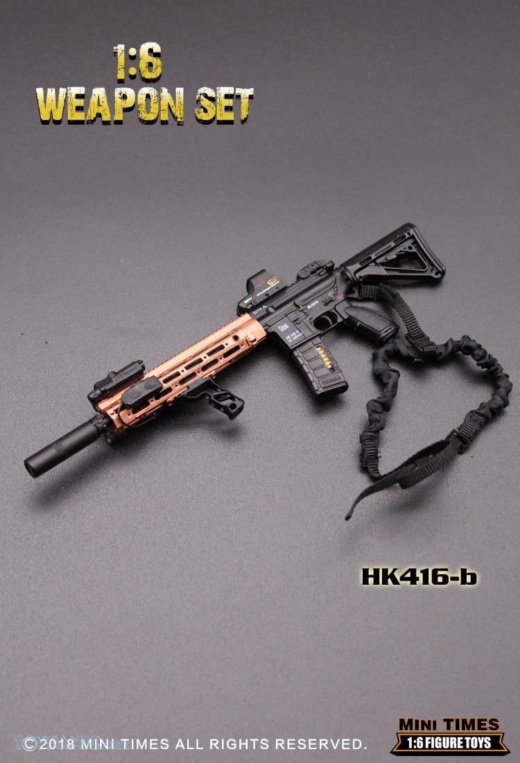 minitimes - NEW PRODUCT: MINI TIMES TOYS: 1/6 scale MR & HK416 weapons sets 11086