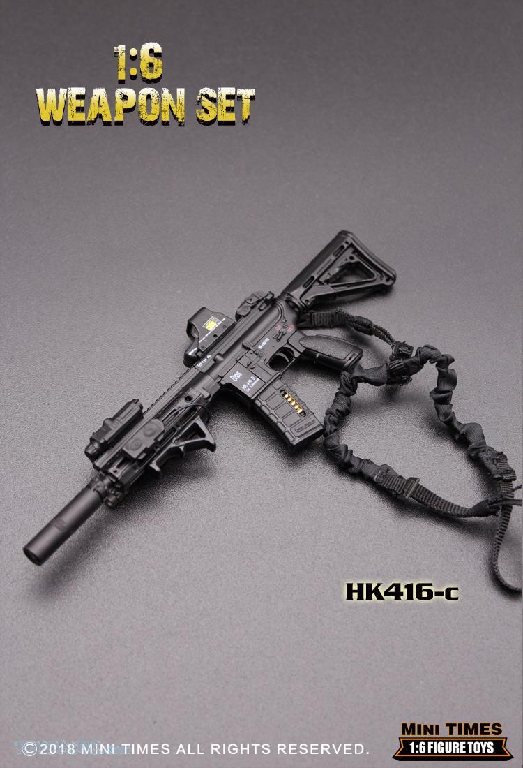 minitimes - NEW PRODUCT: MINI TIMES TOYS: 1/6 scale MR & HK416 weapons sets 11087