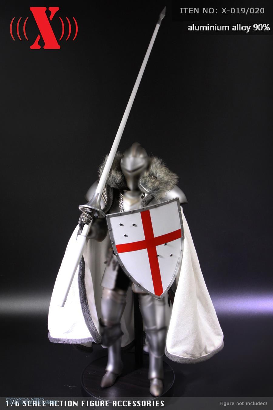 Shield - NEW PRODUCT: X TOYS: Medieval Weapons: Alloy Spear (Lance) (2 styles) & Aluminum Alloy Shield (4 styles) 11146