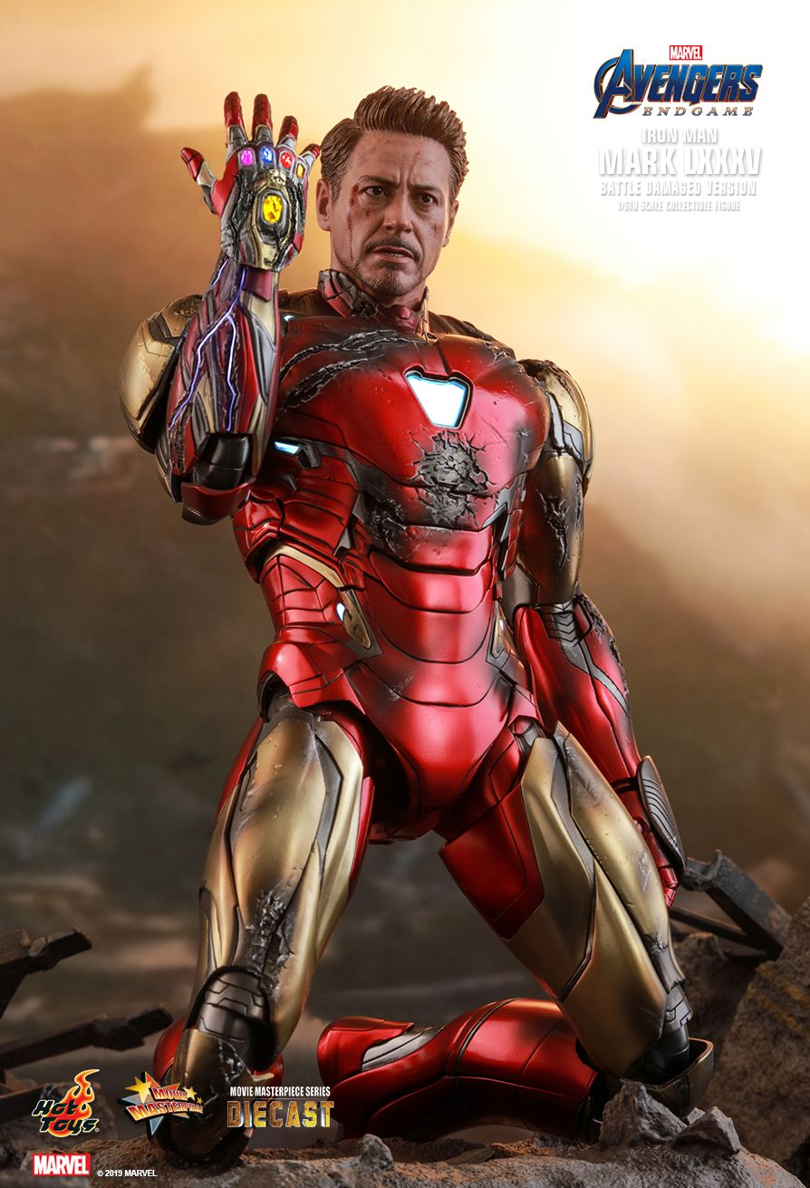 BattleDamaged - NEW PRODUCT: HOT TOYS: AVENGERS: ENDGAME IRON MAN MARK LXXXV (BATTLE DAMAGED VERSION) 1/6TH SCALE COLLECTIBLE FIGURE 11177