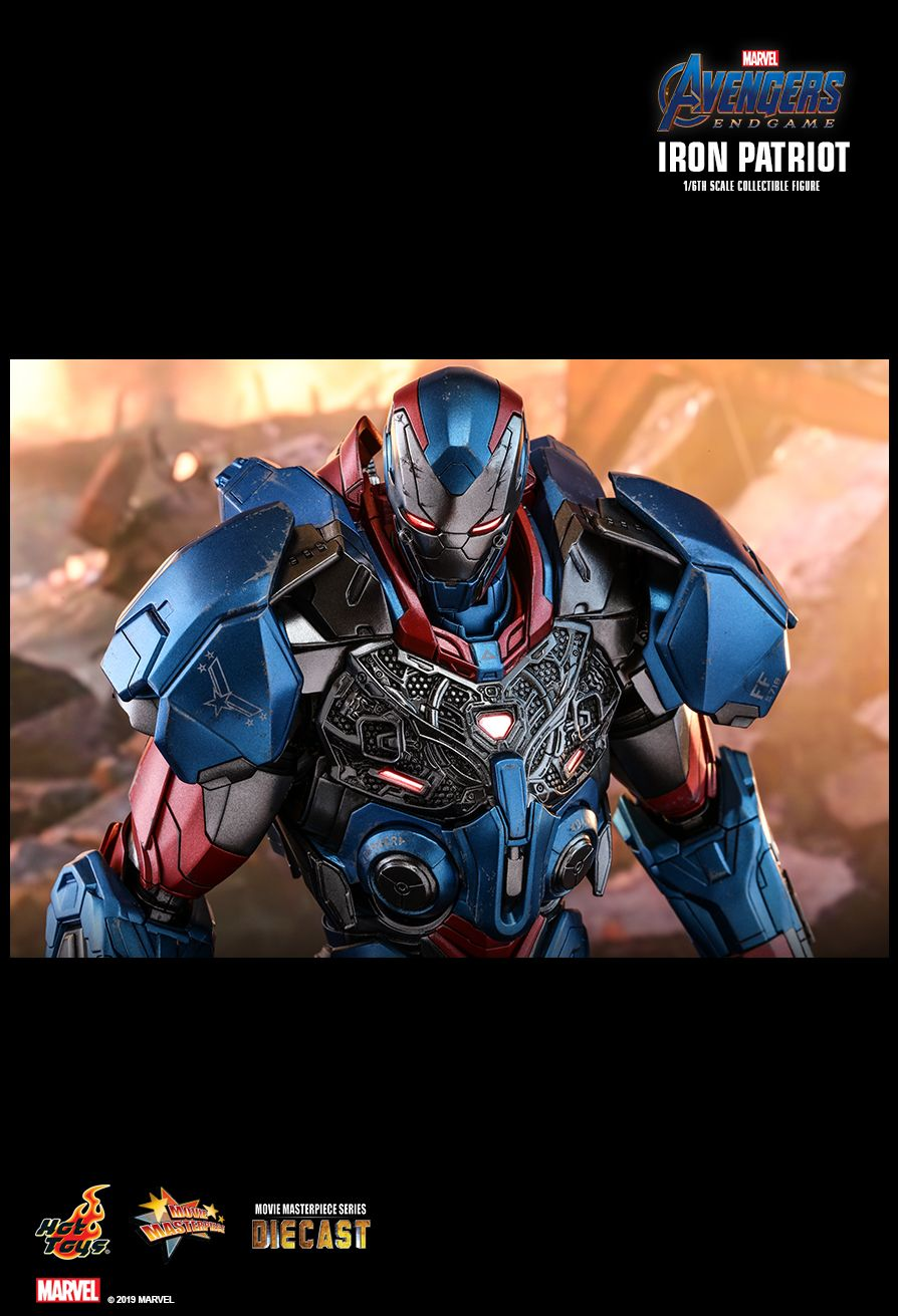 Endgame - NEW PRODUCT: HOT TOYS: AVENGERS: ENDGAME IRON PATRIOT 1/6TH SCALE COLLECTIBLE FIGURE 11179